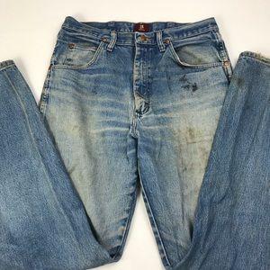 Wrangler Distressed Mom Jeans Hi Waist Straight BB
